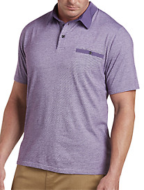 Woven Collar Jersey Polo