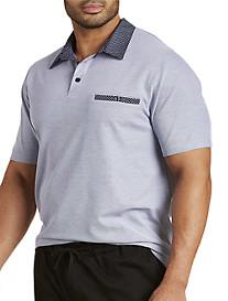 Woven Collar Cotton Piqué Polo