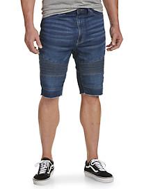 Denim Moto Shorts