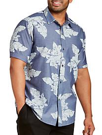 Printed Floral Chambray Sport Shirt