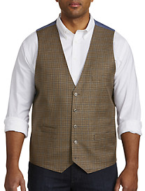 Oak Hill® Mini Check Reversible Chambray Vest