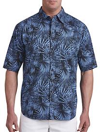 PX Clothing Fan Palm-Print Sport Shirt