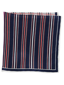 Rochester Stripe Grid Multi Silk Pocket Square