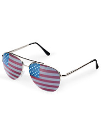 True Nation® Americana Metal Aviator Sunglasses