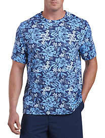 Harbor Bay® Tropical Floral Print No-Pocket Tee