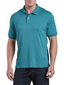 Harbor Bay Diamond-Pattern Interlock Polo