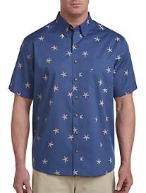 Harbor Bay Easy-Care Starfish Print Sport Shirt