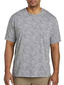 Harbor Bay Tropical Leaf Pocket Tee