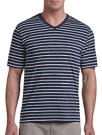 Harbor Bay Multi-Stripe V-Neck Tee