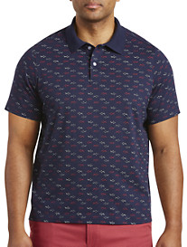 Harbor Bay Shark Print Polo
