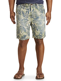 True Nation Tropical Leaf Stretch Shorts