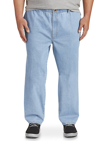 Harbor Bay® Full Elastic-Waist Jeans - Updated Fit | Relaxed Fit