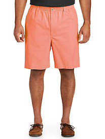 Harbor Bay Elastic-Waist Twill Shorts