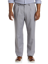 Oak Hill® Waist-Relaxer® Pleated Microfiber Pants- New & Improved Fit