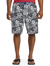 Island Passport Hawaiian Floral Swim Trunks