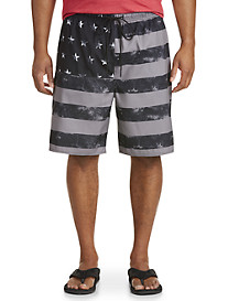 True Nation Stars & Stripes Swim Trunks