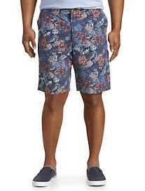 True Nation® Tropical Pineapple Print Shorts