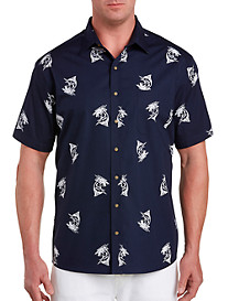 Harbor Bay Marlin Print Sport Shirt