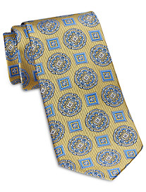 Rochester Designed in Italy Large Mixed Medallion Silk Tie
