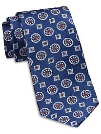 Rochester Designed in Italy Medium Mixed Medallion Silk Tie