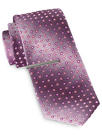 Gold Series Ombré Circle Medallion Tie with Tie Bar