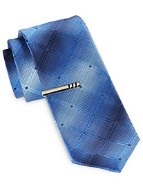 Gold Series Ombré Grid Tie with Tie Bar