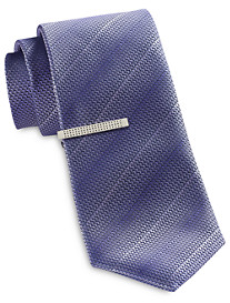 Gold Series Textured Solid Tie and Tie Bar