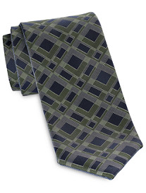 Synrgy™ Reversible Abstract Geometric-Pattern Tie