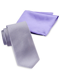Synrgy Zig Zag Neat Tie and Pocket Square