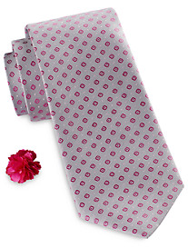 Synrgy Square Neat Tie and Lapel Pin Combination