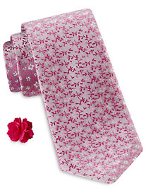 Synrgy Mini Multi Floral Tie with Lapel Pin Combination