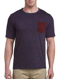 Harbor Bay® Stripe Contrast Pocket Tee-New and Improved Fit