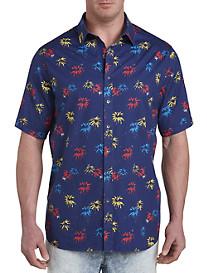 Palm Tree Print Sport Shirt