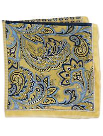Rochester Paisley Neat Multi Silk Pocket Square