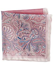 Rochester Plaid Paisley Multi Silk Pocket Square