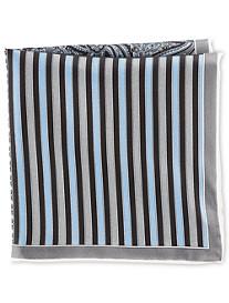 Rochester Stripe Neat Multi Silk Pocket Square