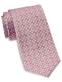 Rochester Designed in Italy Tonal Floral Medallion Silk Tie
