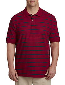 Harbor Bay Wide Stripe Polo Shirt