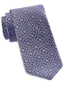 Rochester Designed in Italy Square Medallion Silk Tie