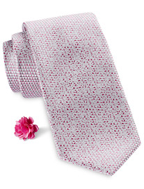 Synrgy Triangle Neat Tie with Lapel Pin