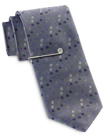 Gold Series Multi Dot Tie with Tie Bar