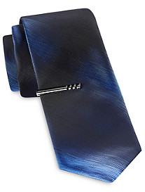 Gold Series Solid Ombré Tie with Tie Bar