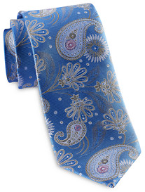 Rochester Designed in Italy Summer Floral Paisley Silk Tie