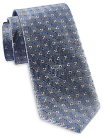 Rochester Designed in Italy Textured Zig Zag Neat Silk Tie