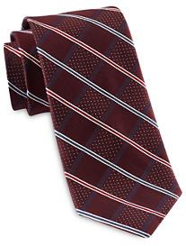 Rochester Designed in Italy Stripe Grid Silk Tie