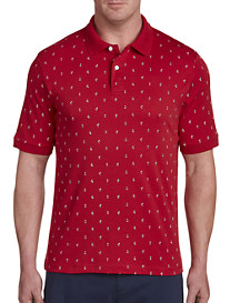 Harbor Bay Nautical Print Polo Shirt