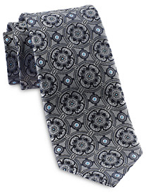 Rochester Designed in Italy Compass Medallion Silk Tie