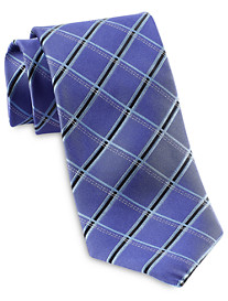 Rochester Designed in Italy Criss-Cross Grid Silk Tie