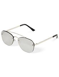 True Nation® Rimless Aviator Sunglasses