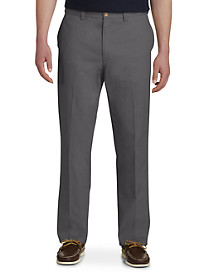 Harbor Bay Waist-Relaxer Flat-Front Twill Pants Fit - Unhemmed